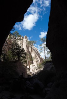View from one of the many canyons